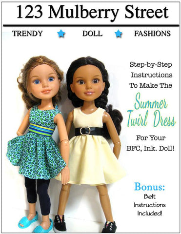 Summer Twirl Dress Pattern for BFC, Ink. Dolls