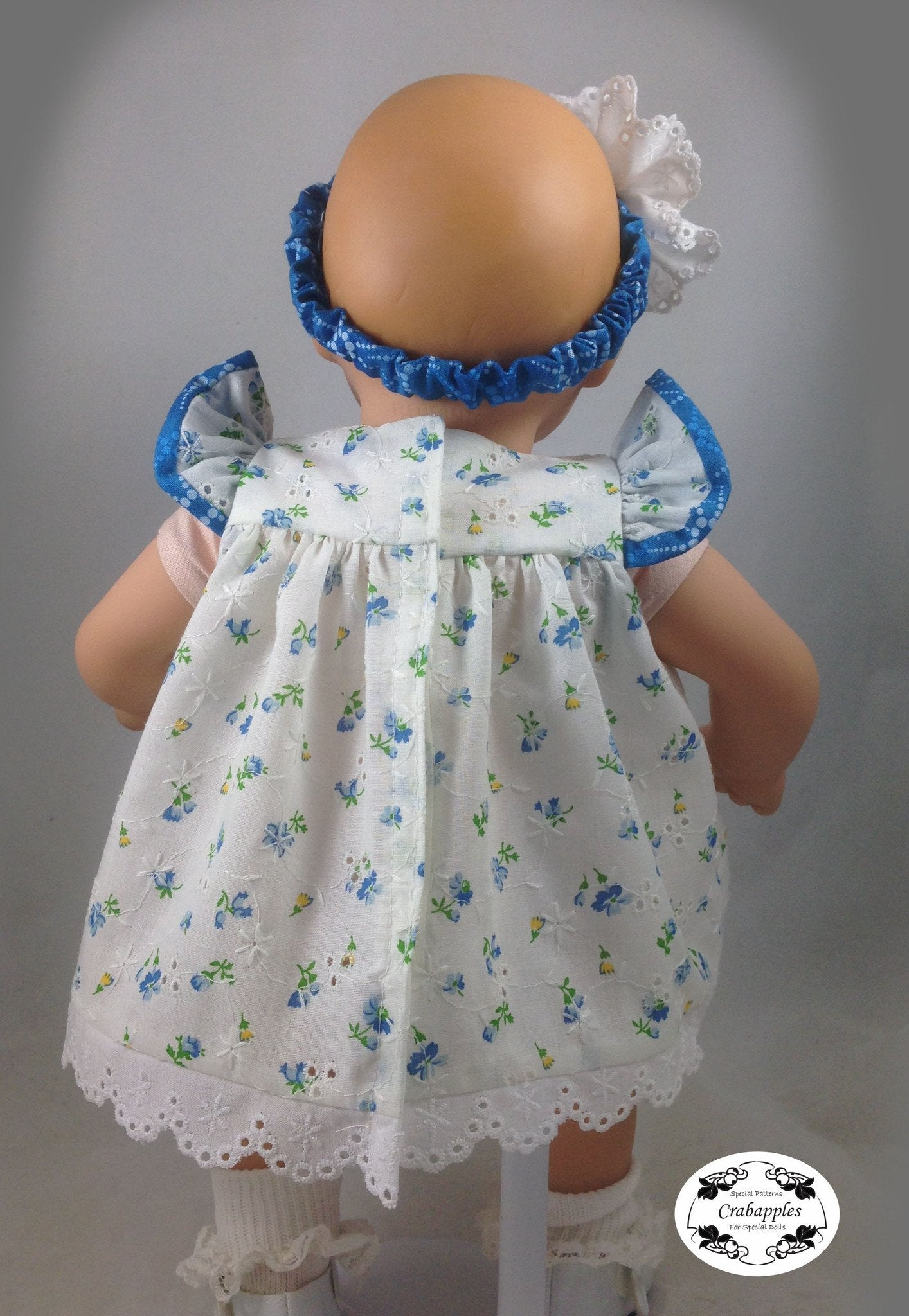 Bitty Baby Flutter Sleeve Dress 15 inch Doll Clothes PDF