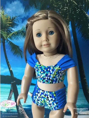 "Palmetto Swimsuit & Cover-up 18"" Doll Clothes Pattern"