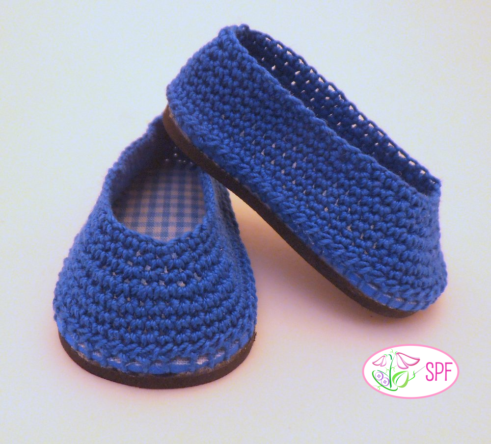 Paloma Crocheted Ballet Flats Doll Clothes Pattern 18 Inch American