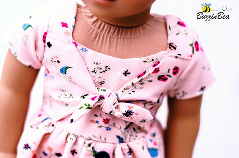 "Marguerite Dress 18"" Doll Clothes Pattern"