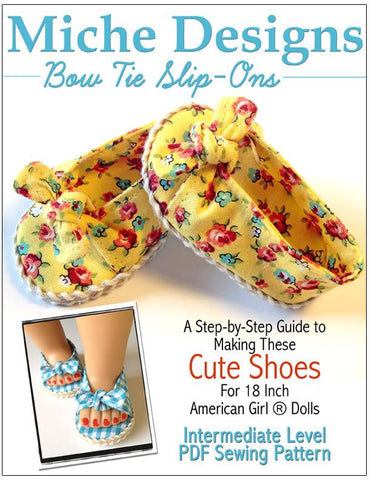 "Bow-Tie Slip On's 18"" Doll Shoes"