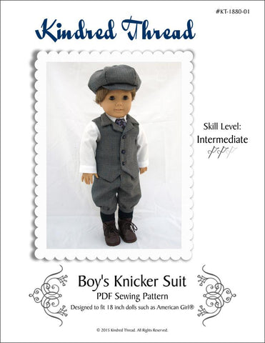"Kindred Thread 18 Inch Boy Doll Boy's Knicker Suit 18"" Doll Clothes Pixie Faire"