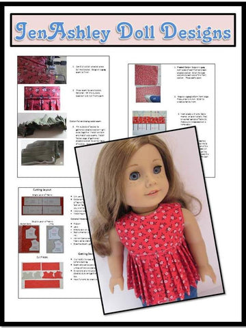 "Breezy Summer Top 18"" Doll Clothes Pattern"