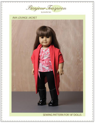 Bonjour Teaspoon Ava Lounge Jacket Pattern For AG Dolls