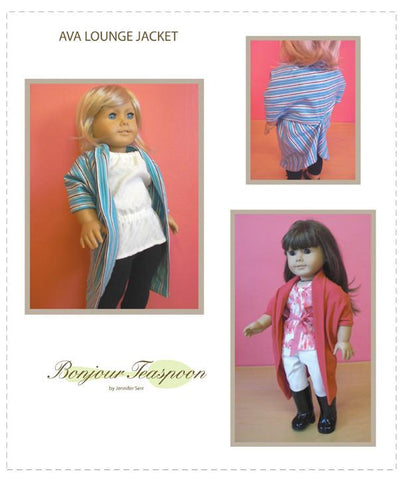 Bonjour Teaspoon Ava Lounge Jacket 18 inch Doll Clothes Pattern