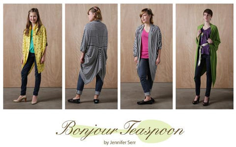 Bonjour Teaspoon Ava Lounge Jacket Girls Sewing Pattern