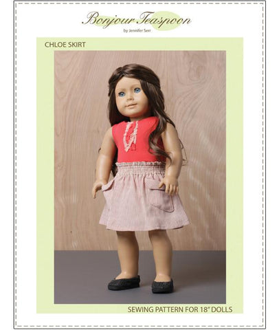 "Chloe Skirt 18"" Doll Clothes Pattern"