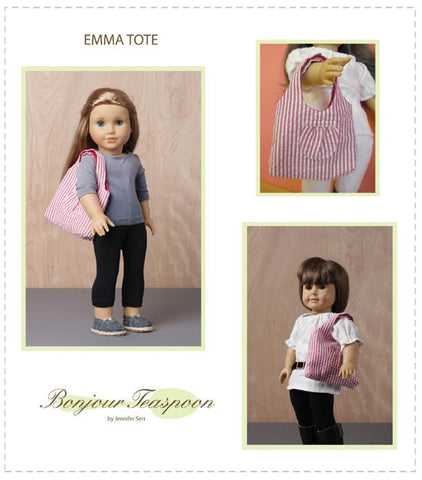 "Emma Tote Bag 18"" Doll Accessory Pattern"