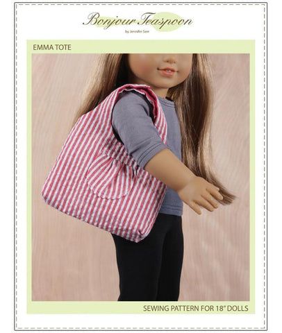 Bonjour Teaspoon Emma Tote PDF Pattern for Dolls