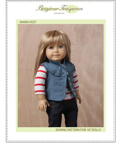 "Maria Vest 18"" Doll Clothes Pattern"