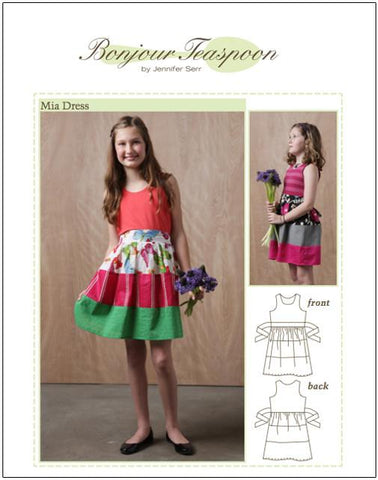Mia Dress Pattern for Girls 5-14