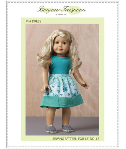 Bonjour Teaspoon Mia Dress Pattern for Dolls
