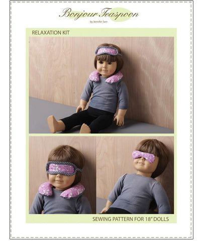 "Bonjour Teaspoon 18 Inch Modern Relaxation Kit 18"" Doll Accessory Pattern Pixie Faire"