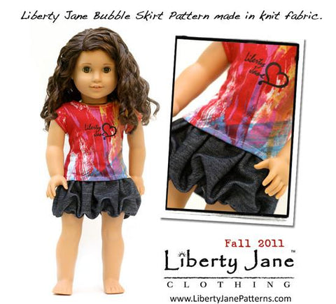 Liberty Jane 18 inch doll pattern bubble skirt
