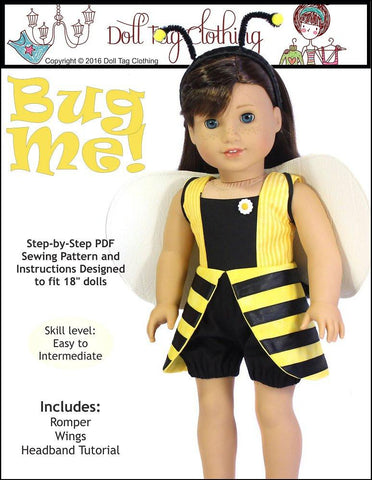 "Doll Tag Clothing 18 Inch Modern Bug Me! 18"" Doll Clothes Pixie Faire"