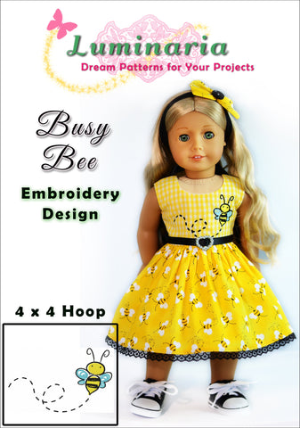 Busy Bee Machine Embroidery Design