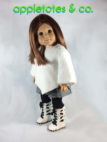 "Butterfly Boots 18"" Doll Shoe Pattern"