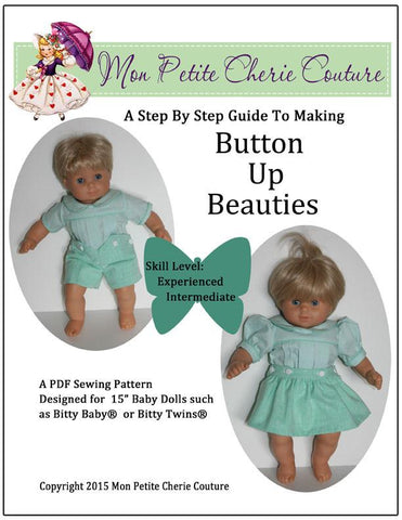 "Button Up Beauties 15"" Doll Clothes"