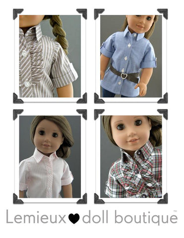 "Button Down Tunic 18"" Doll Clothes"