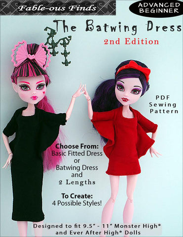 The Batwing Dress Pattern for Monster High Dolls