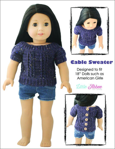 Cable Sweater Crochet Pattern