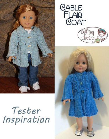 Cable Flair Coat Knitting Pattern