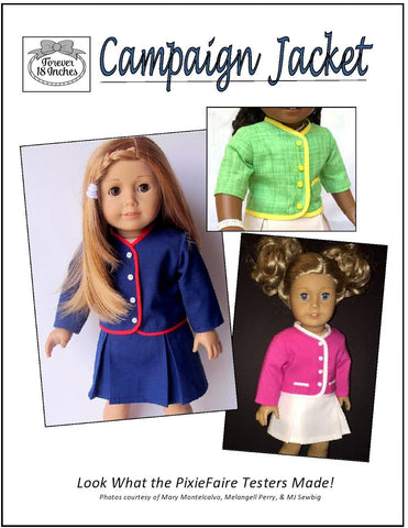 "Campaign Jacket 18"" Doll Clothes"