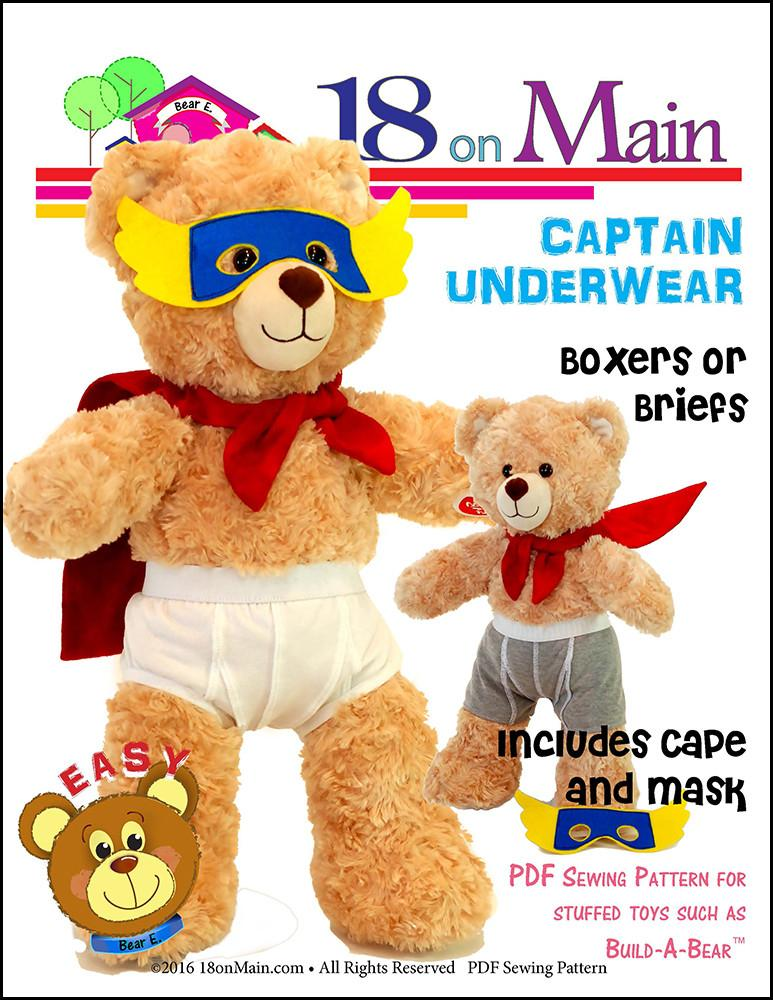 40 On Main Captain Underwear Plush Toy Clothes Pattern 40 To 40 Inch Mesmerizing Build A Bear Clothes Patterns