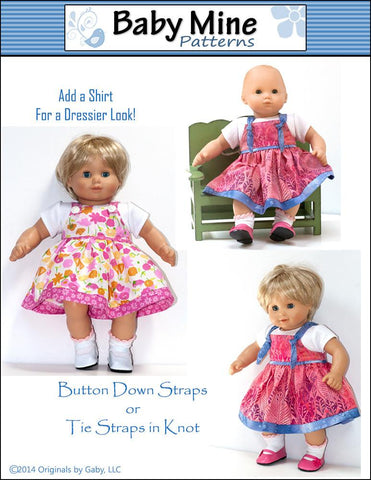 "Carly's Dress 15"" Doll Clothes Pattern"