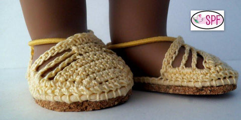 "Carmen Crocheted Espadrilles 18"" Doll Shoes"