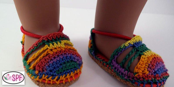 Carmen Crocheted Espadrilles 18 inch Doll Shoes PDF ...