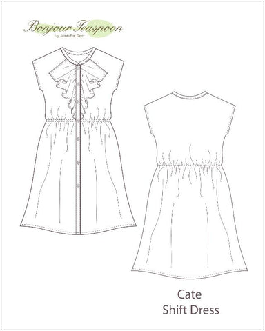 Cate Shift Dress Pattern for Girls