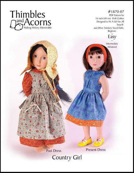 Thimbles And Acorns Country Girl Doll Clothes Pattern 16
