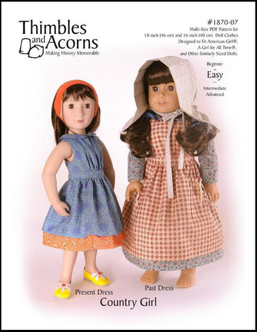 "Country Girl Bundle 16"" and 18"" Doll Clothes"