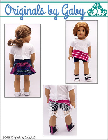 "Chantilly Skirt 18"" Doll Clothes"