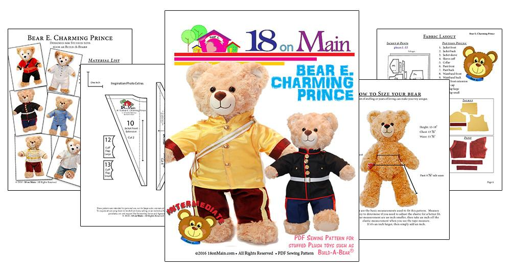 18 On Main Bear E Charming Prince Plush Toy Clothes Pattern 15 To