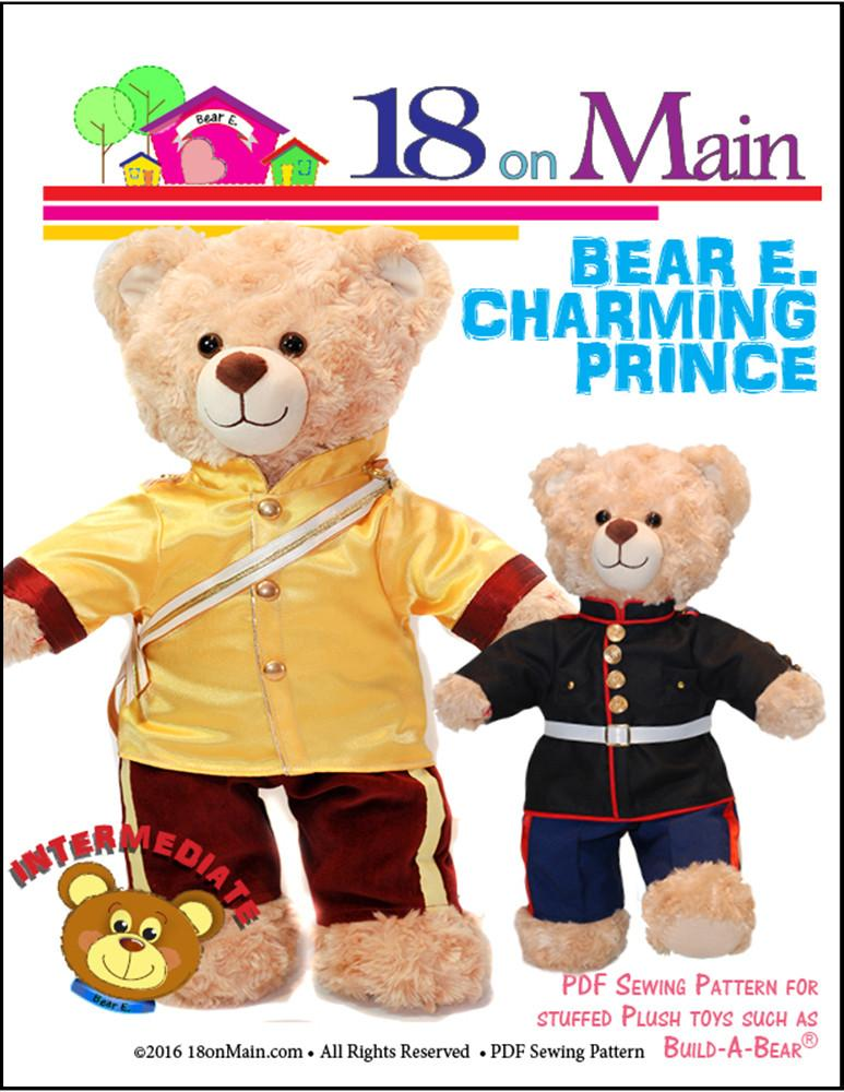 40 On Main Bear E Charming Prince Plush Toy Clothes Pattern 40 To New Build A Bear Clothes Patterns