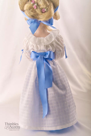 "Chemise a la Reine and Soft Crown Bergère Hat 18"" Doll Clothes"