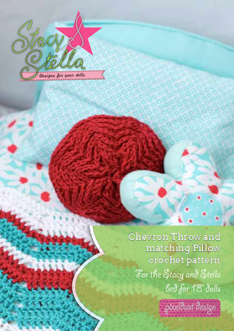 Stacy and Stella Quilt Chevron Throw Crochet Pattern Pixie Faire