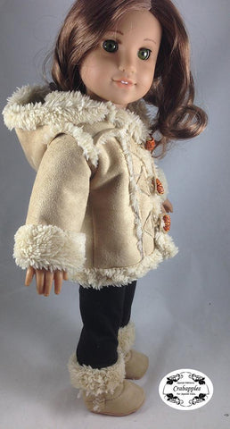 "Chilly Day Sherpa Coat And Boots 18"" Doll Clothes Pattern"