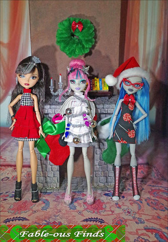 Burst into Tiers Dress Pattern for Monster High Dolls