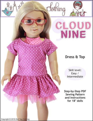 "Cloud Nine 18"" Doll Clothes Pattern"