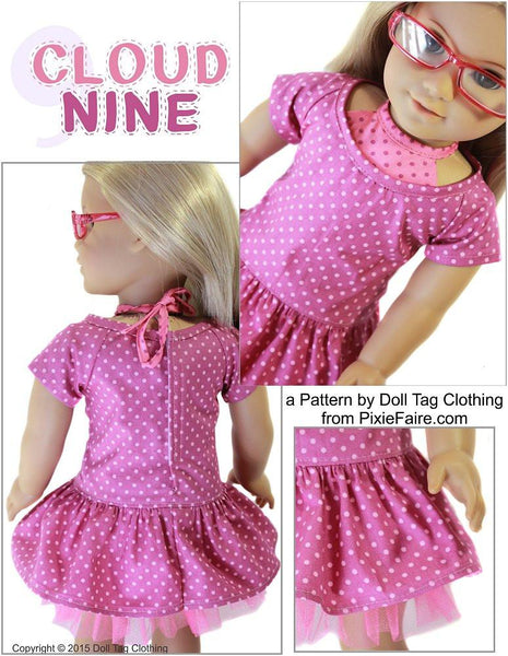 Doll Tag Clothing Cloud Nine Doll Clothes Pattern 18 Inch