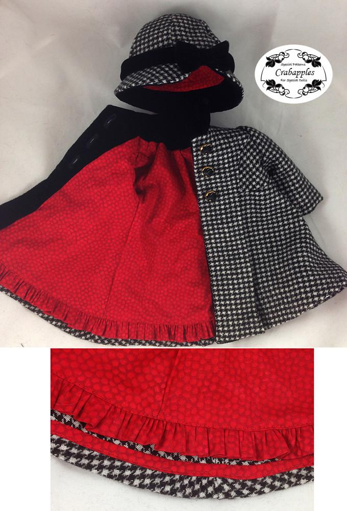 Classic Coat and Hat 18 inch Doll Clothes PDF Pattern ...