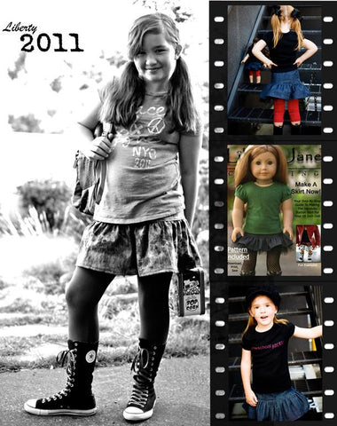 Girl and Doll Matching Skirt Pattern Bundle