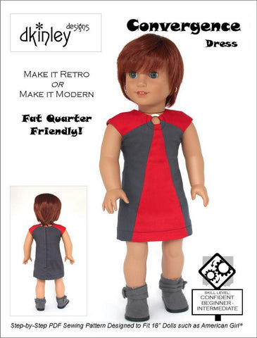 "Convergence Dress 18"" Doll Clothes Pattern"