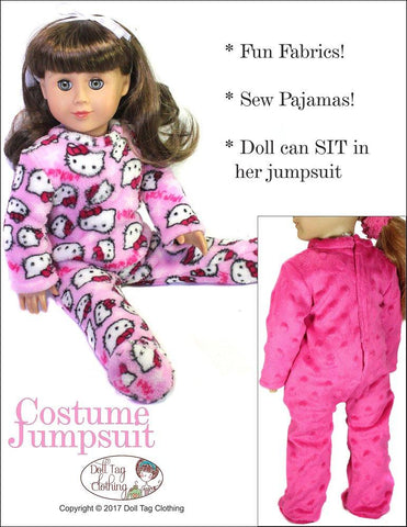 "Costume Jumpsuit 18"" Doll Clothes Pattern"