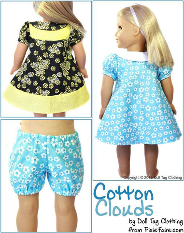 "Cotton Clouds 18"" Doll Clothes"