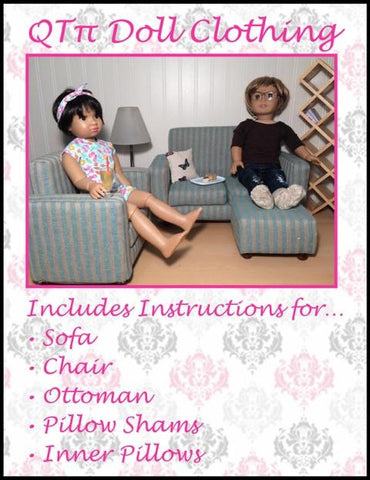 "Modern Sofa Set 18"" Doll Furniture"